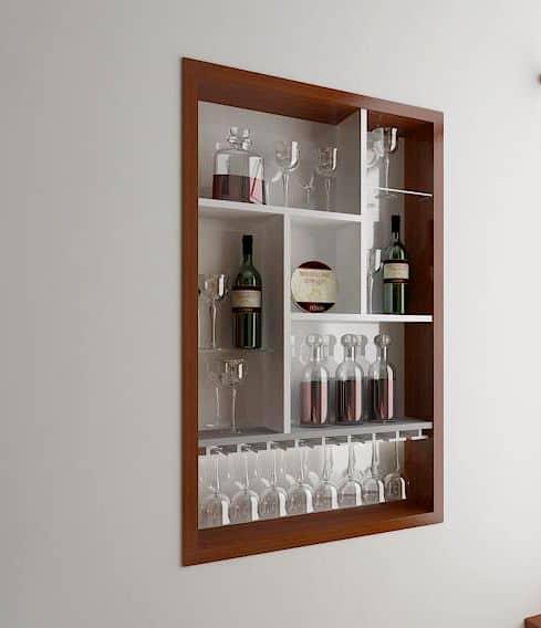 Tủ Rượu Gỗ Mini Đẹp Và Sang Trọng Cho Không Gian Phòng Khách