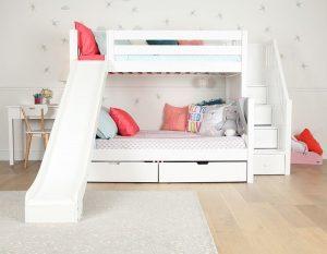 Thiết kế giường ngủ tầng có ngăn đựng đồ tiện nghi