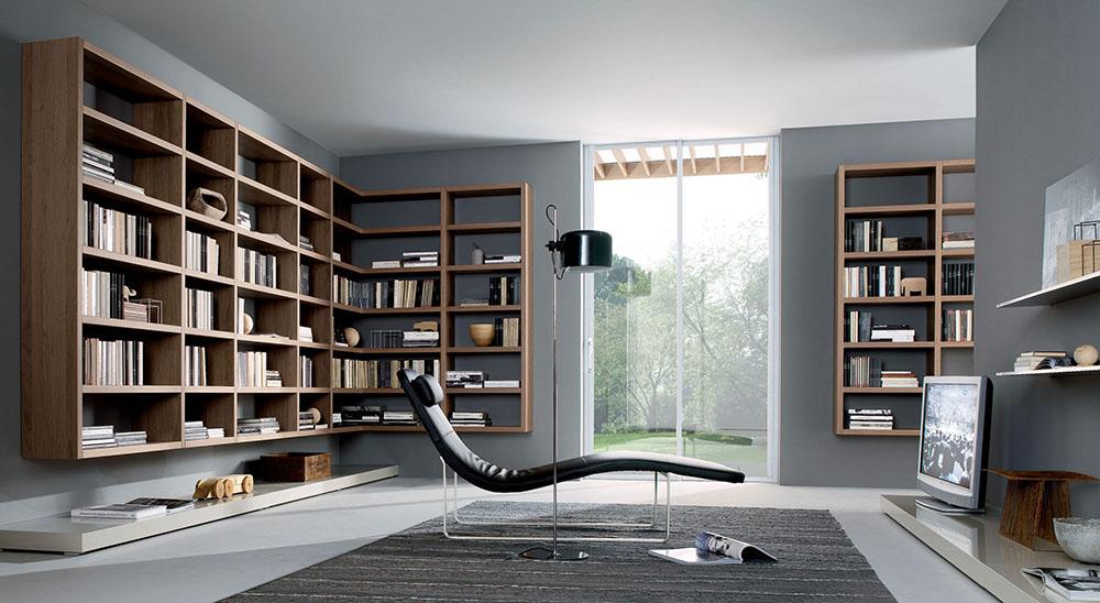 Thiết kế sofa thư giãn cùng kệ sách đầy ấn tượng và hiện đại