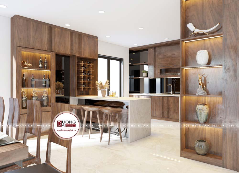 Cửa sổ mang tới ánh sáng và sự thông thoáng cho căn bếp