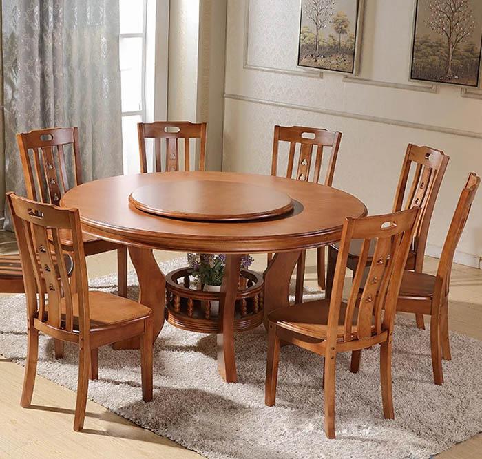 Mẫu bàn ăn 8 ghế thanh mảnh, trang nhã cho phòng ăn