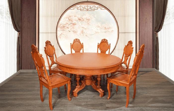 Mẫu bàn siêu sang trọng với thiết kế tân cổ điển