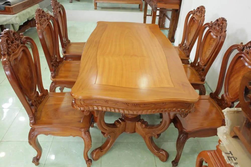 Mặt bàn hình chữ nhật cách điệu mềm mại và thanh lịch