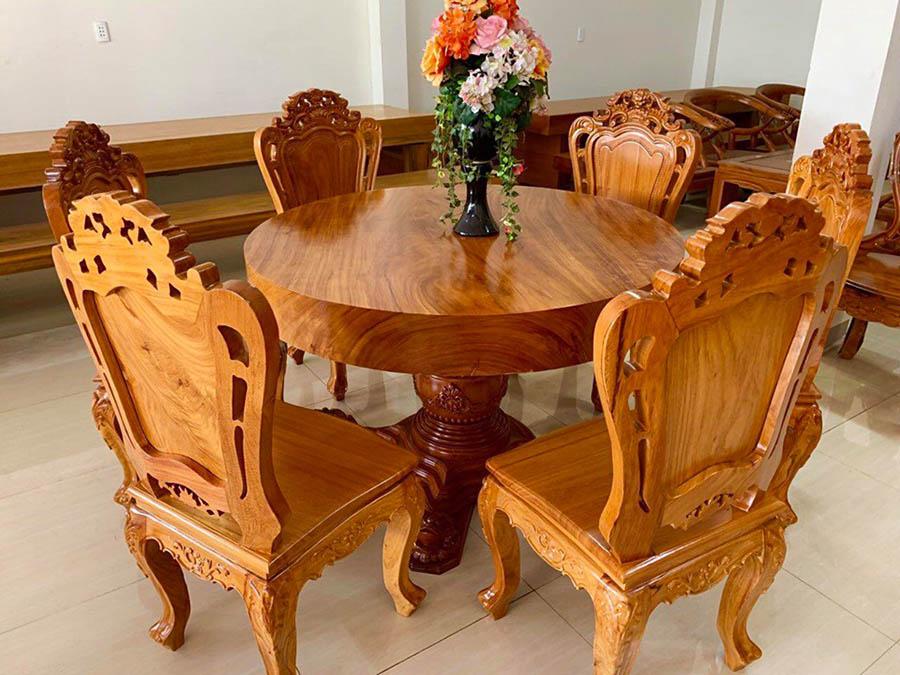 Thiết kế bàn ăn tròn mang đến sự tròn vẹn và viên mãn cho gia đình