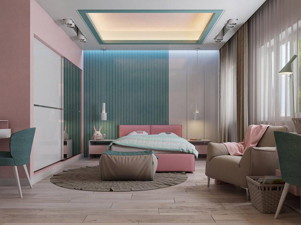 Phòng ngủ sử dụng gam màu trung tính ấm áp và dễ chịu
