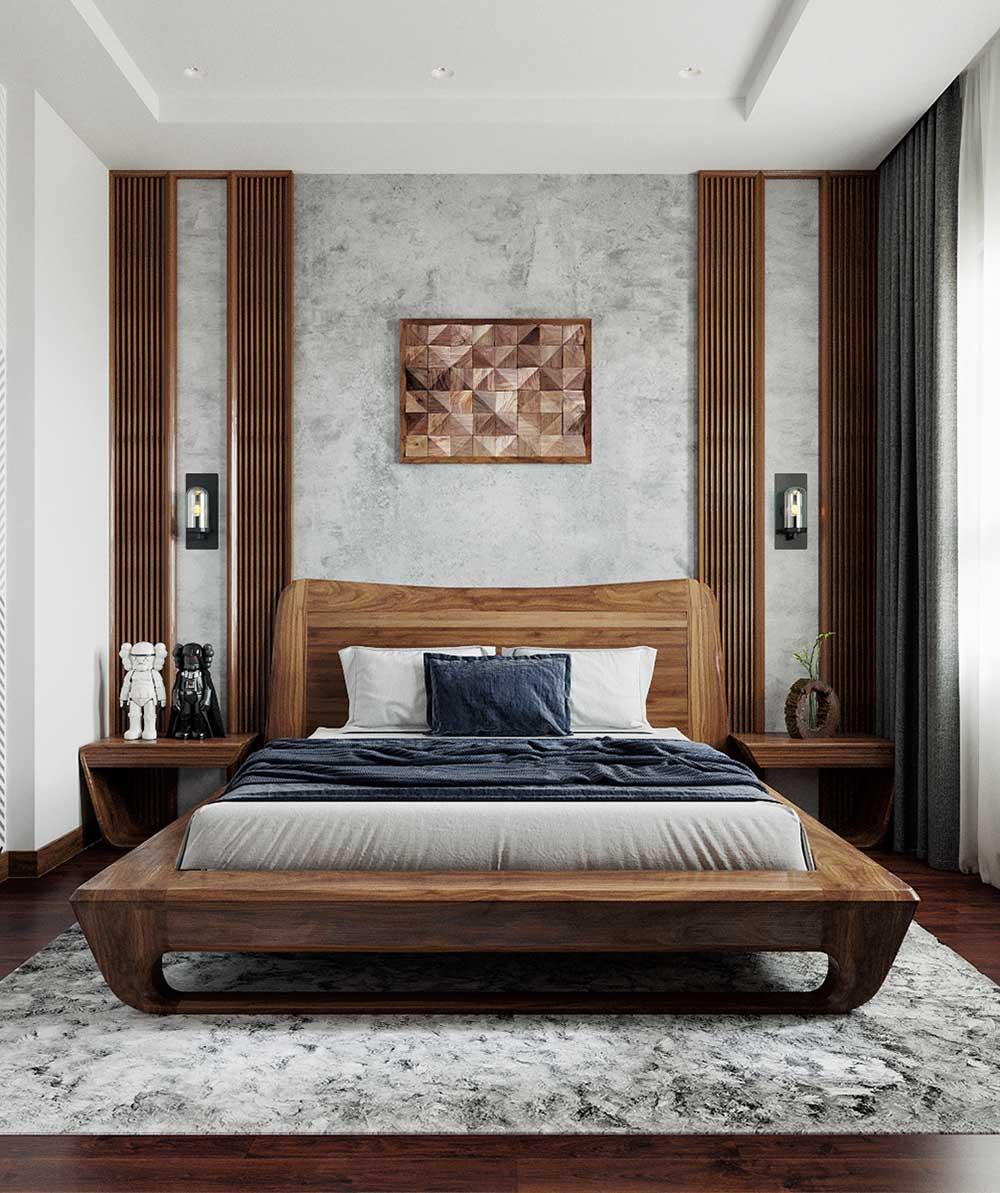 Tủ đầu giường kiểu dáng độc đáo cho phòng ngủ bé trai