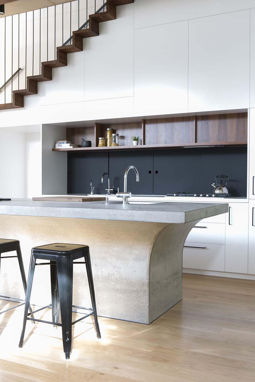 Thiết kế phòng bếp nên chọn gam màu sáng để không gian thông thoáng hơn