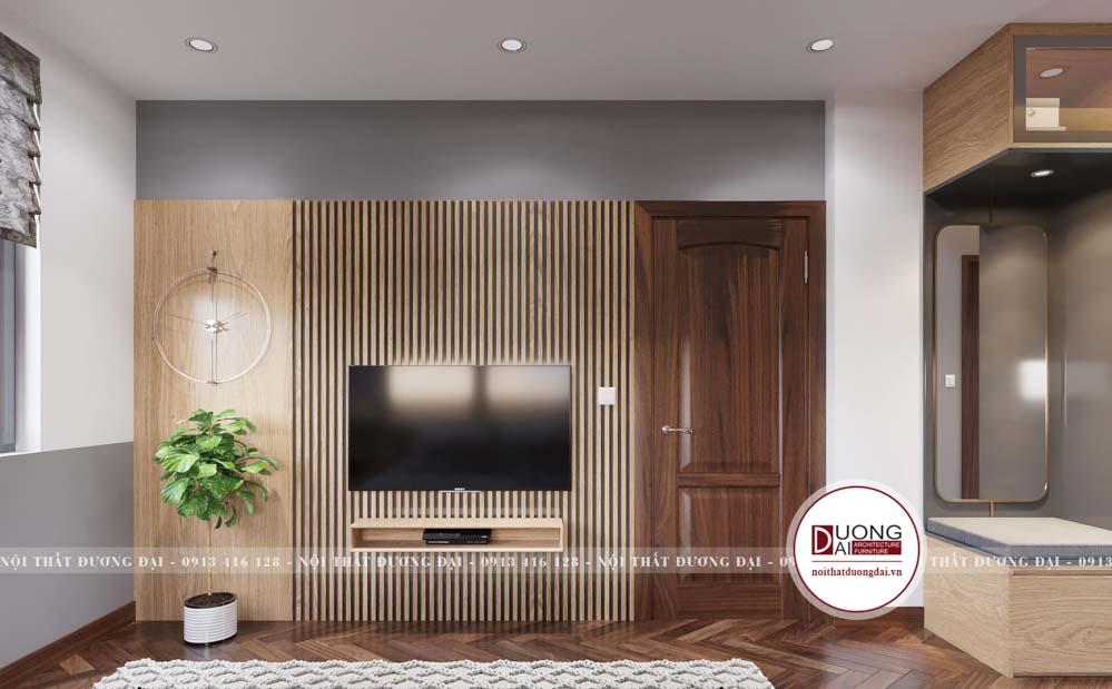 Thiết kế kệ tivi treo tường nhỏ gọn và đầy sáng tạo