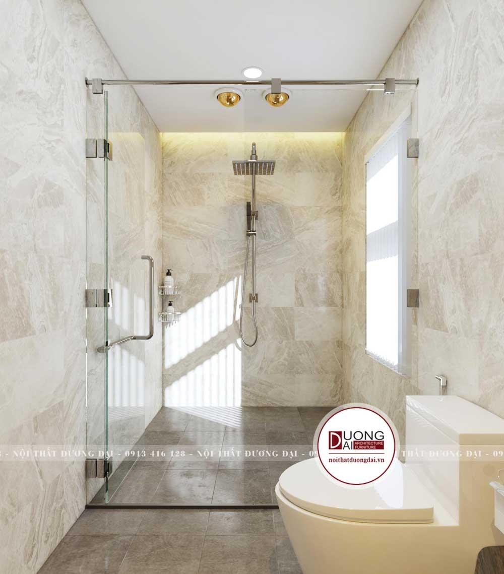 Phòng tắm kính xa hoa và hiện đại