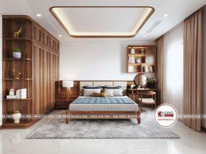 Phòng ngủ Master mang đậm nét truyền thống và đơn giản