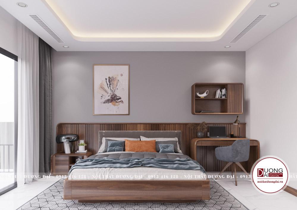 Thiết kế phòng ngủ sang trọng với kiểu dáng hiện đại