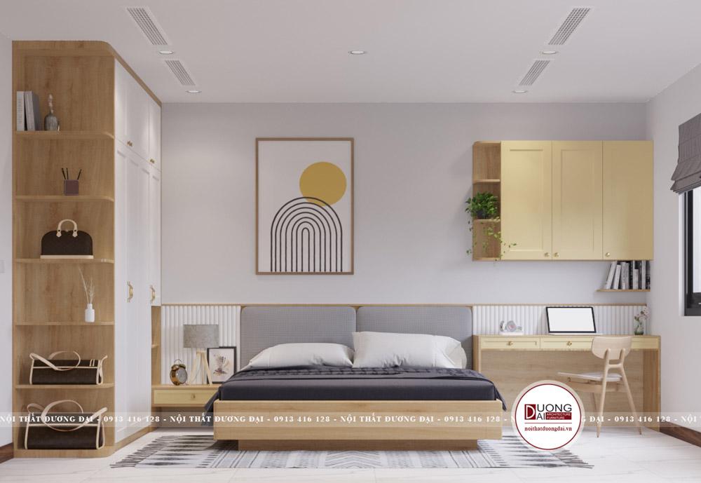 Phòng ngủ cho bé gái với gam màu dịu nhẹ