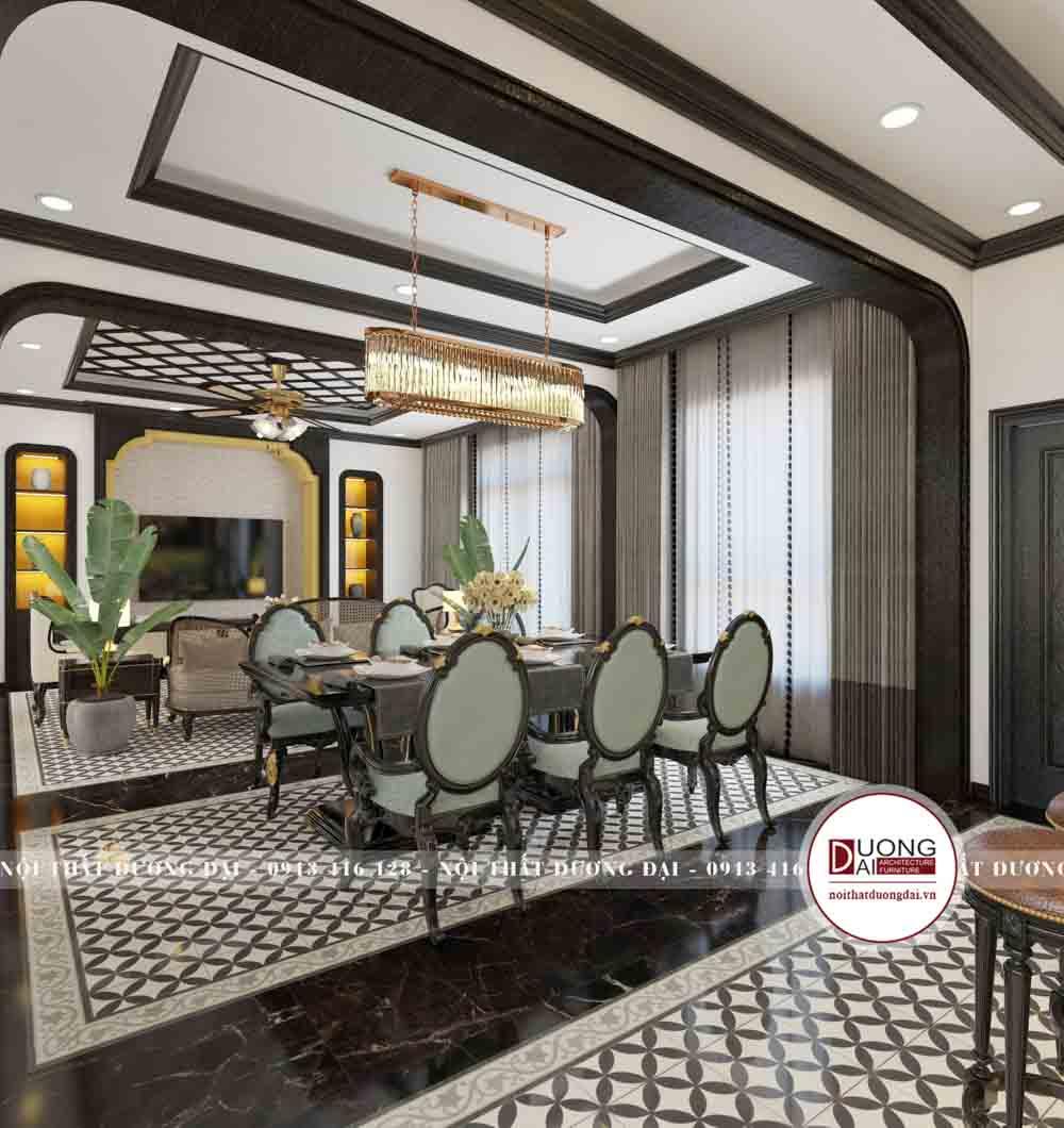 Thiết kế không gian phòng ăn sang trọng và đầy tính thẩm mỹ
