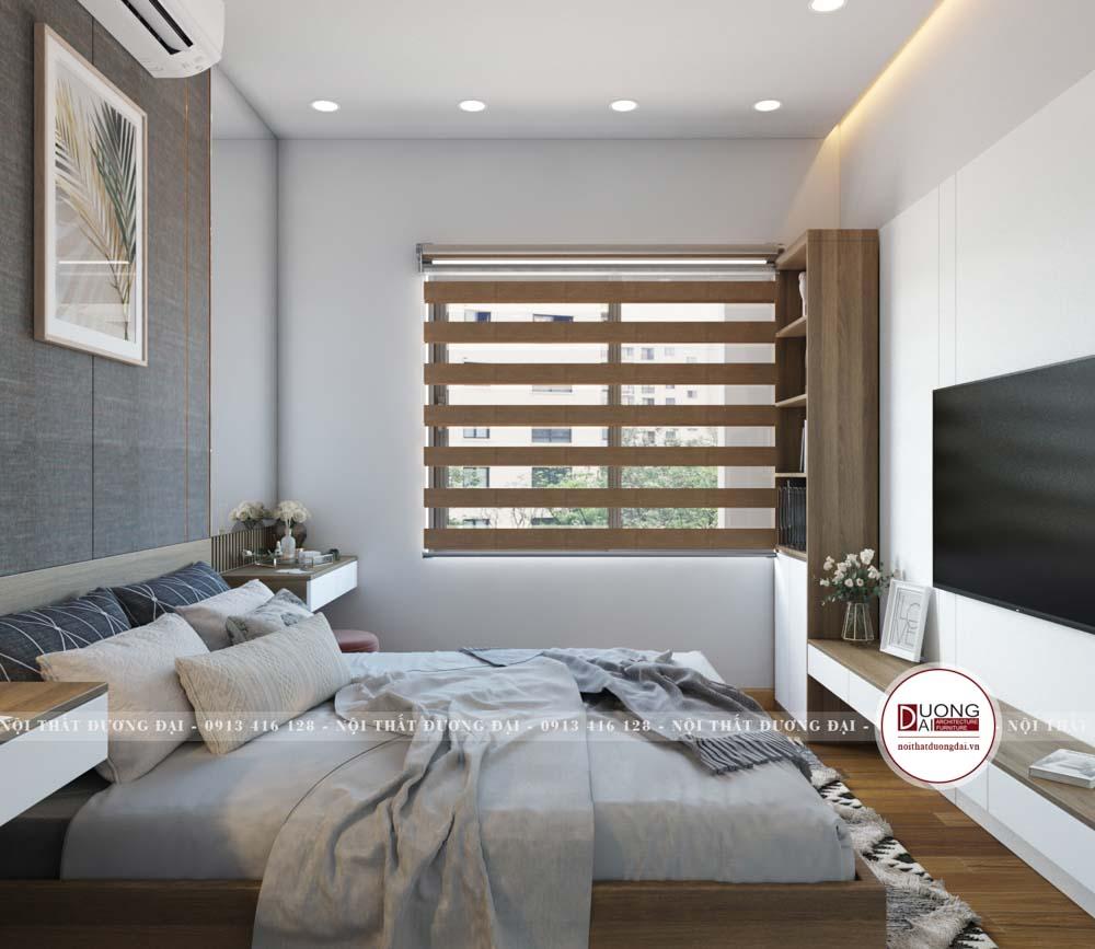 Kệ tivi và kệ trang trí đầy tiện nghi với thiết kế treo tường