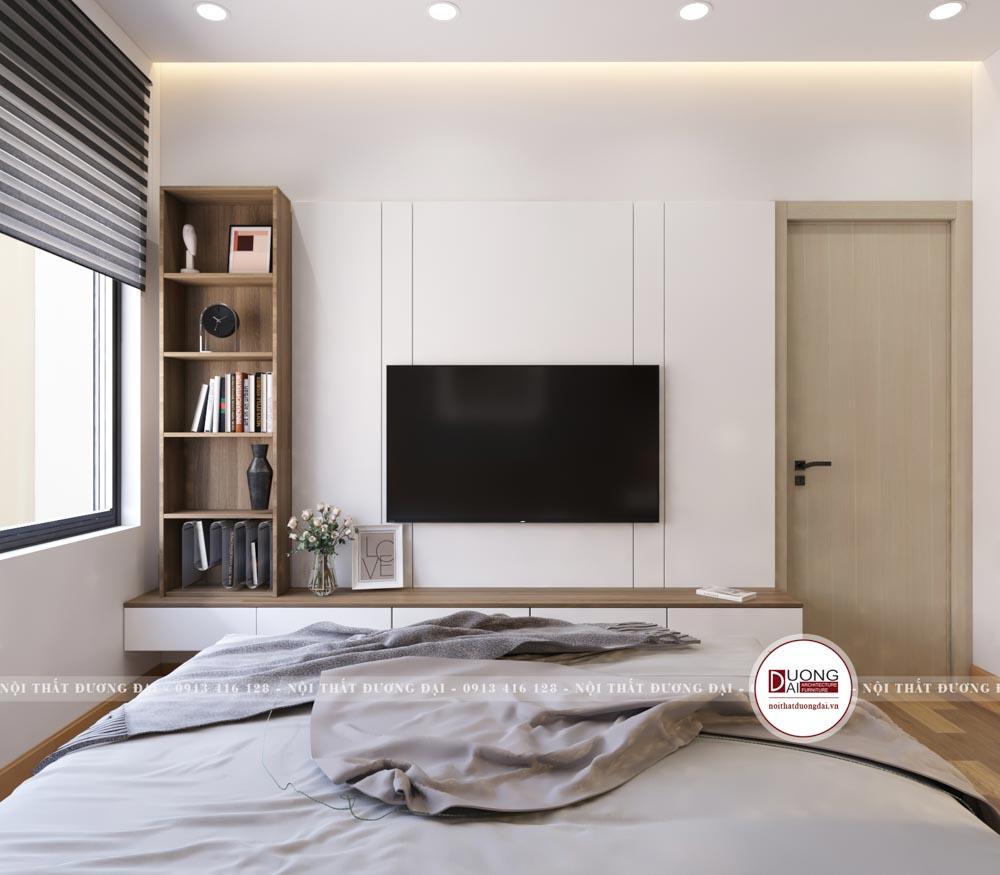 Phòng ngủ diện tích nhỏ được bài trí trang nhã và ấm áp