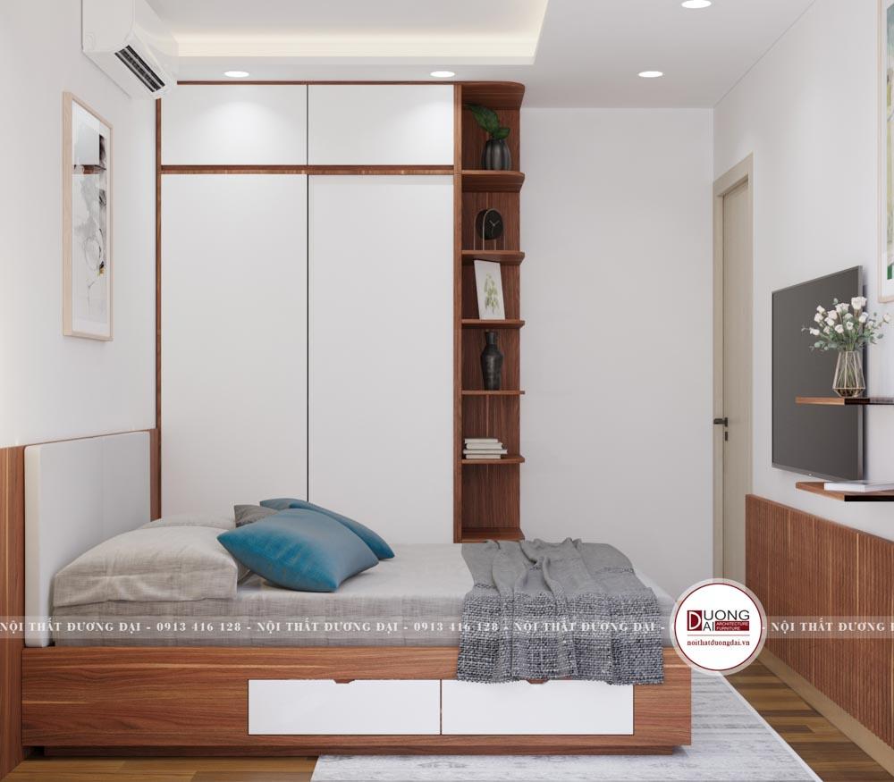 Thiết kế nội thất đa năng cho phòng ngủ nhỏ hẹp