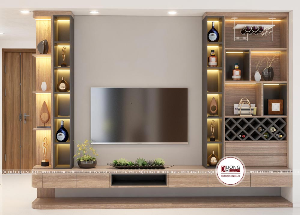 Kệ tivi và tủ rượu sử dụng cho phòng ăn