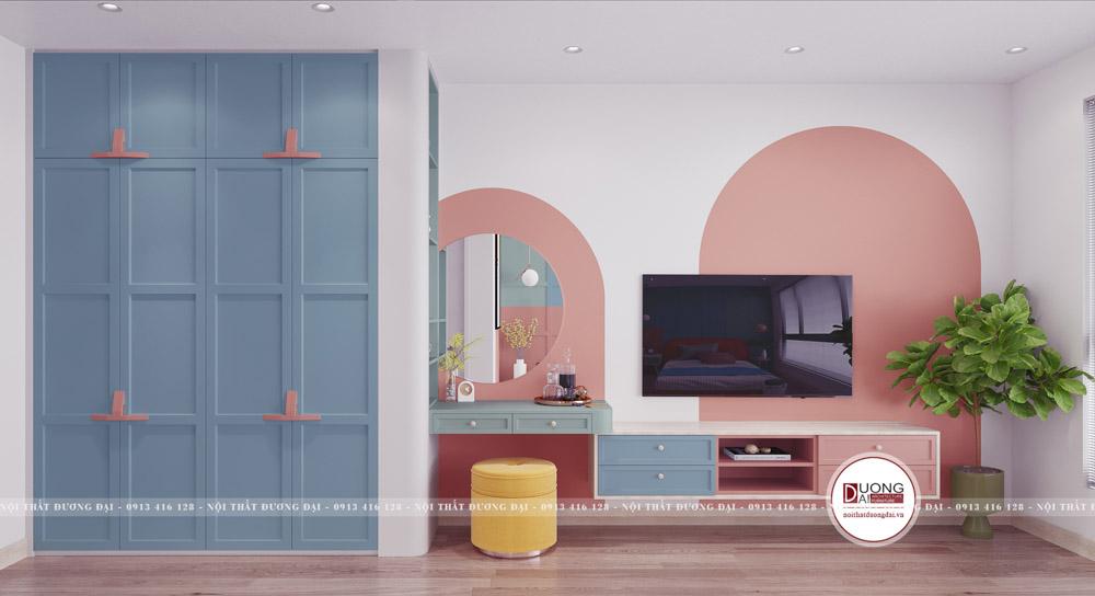 Các khối màu tạo nên nét cá tính cho phòng ngủ