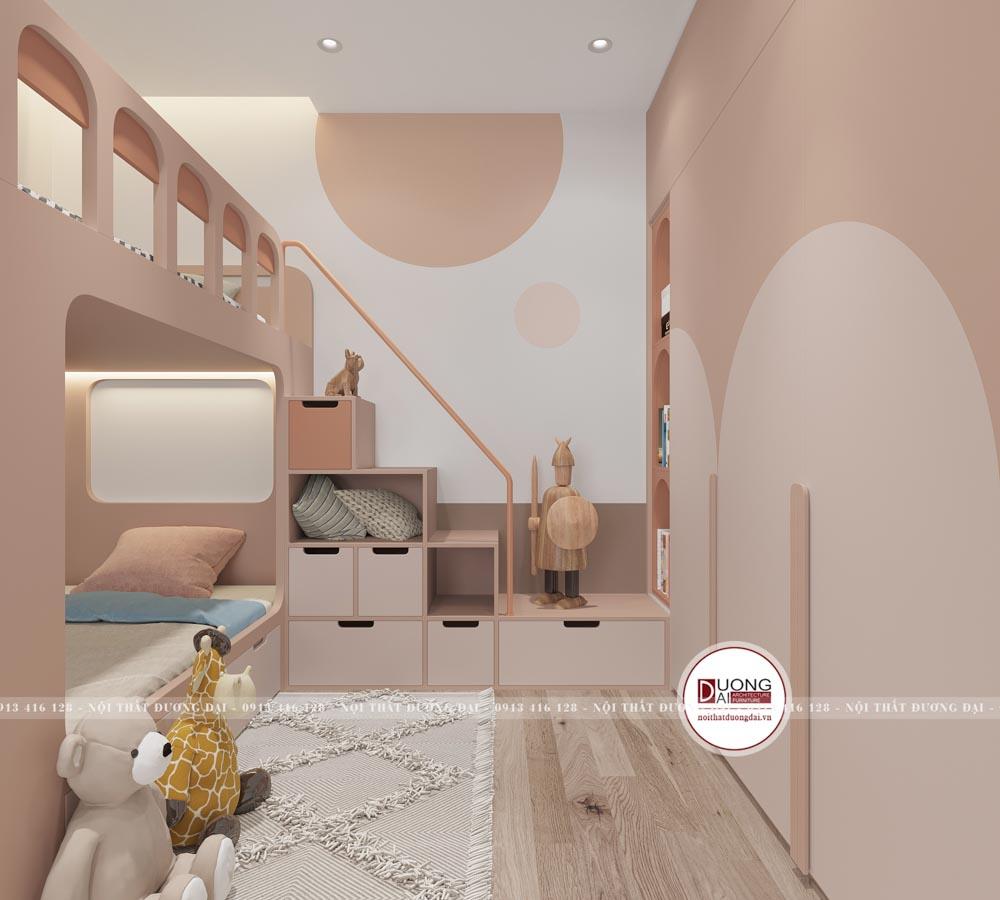 Phòng ngủ được bài trí thông minh với nội thất đa năng