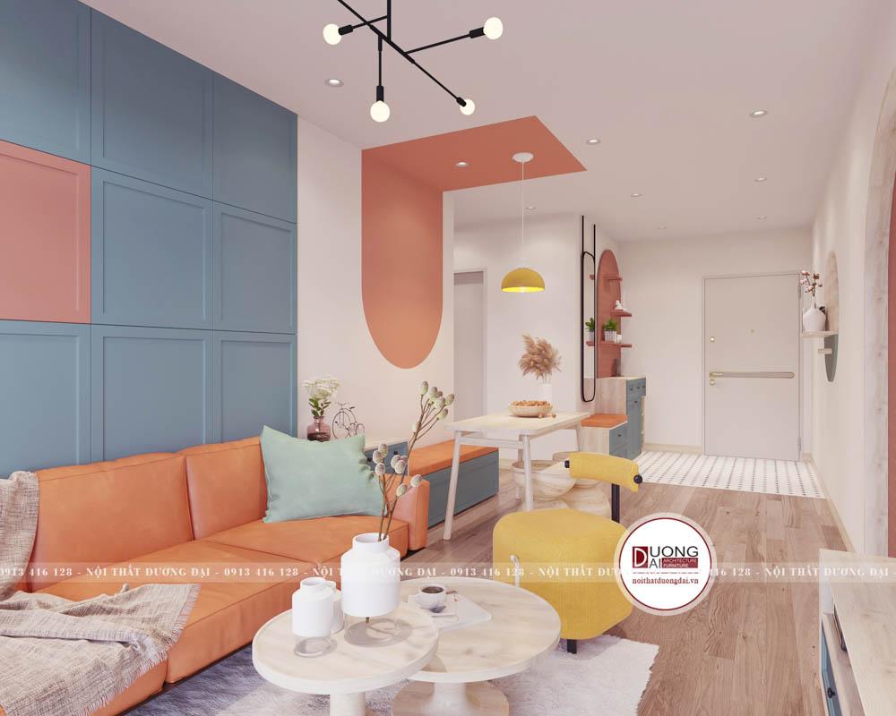 Thiết kế chung cư nhỏ với phong cách Color Block độc đáo