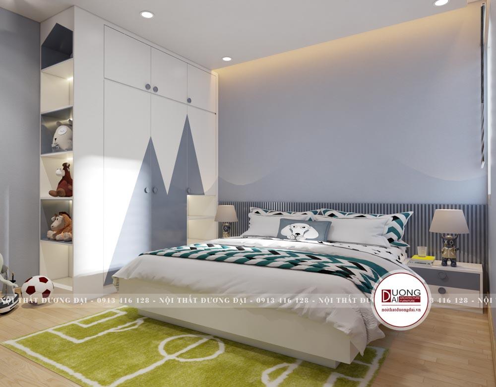 Phòng ngủ của bé trai phương án 2