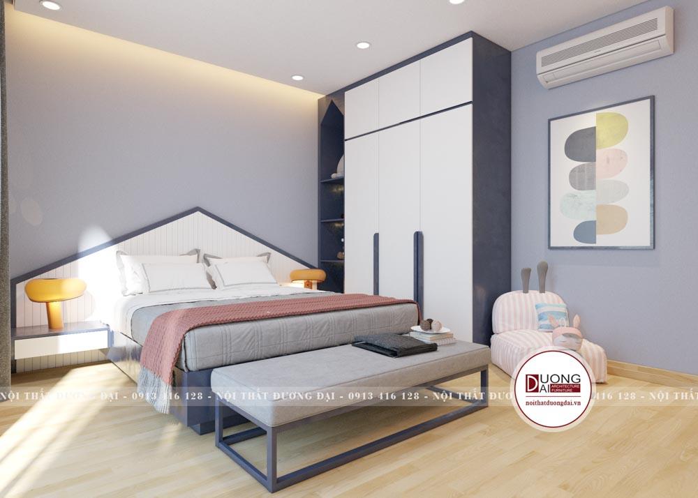 Thiết kế đầu giường mái nhọn trong phương án 2