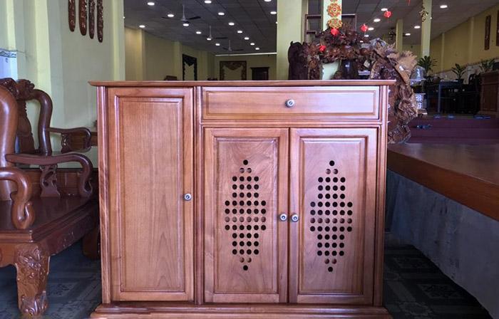 Tủ giày gỗ gõ đỏ với BST 9+ mẫu tủ đẹp mê ly cho phòng khách