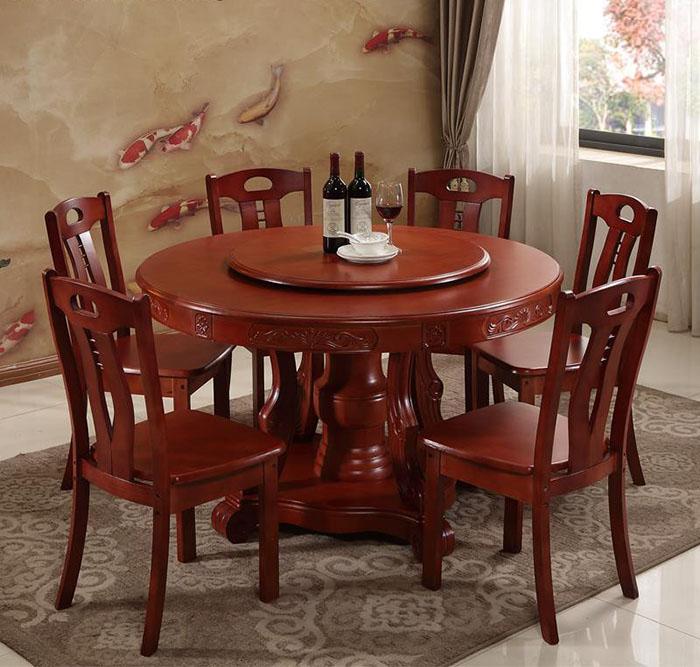 Mẫu bàn tân cổ điển trang nhã có bàn xoay