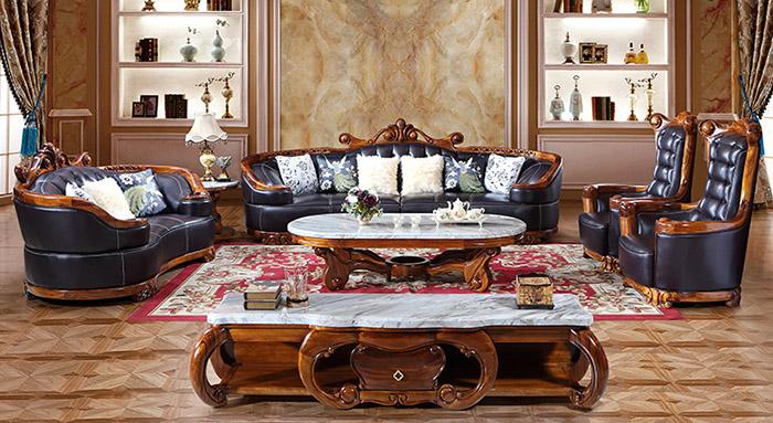 Thiết kế hoă văn bàn trà và sofa mang nét đẹp văn hóa châu Âu cổ điển