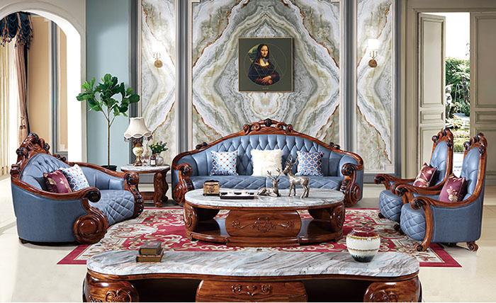 Hoa văn quả trám cùng sofa khung gỗ gõ đỏ tạo nên nét đẹp xa hoa nhất