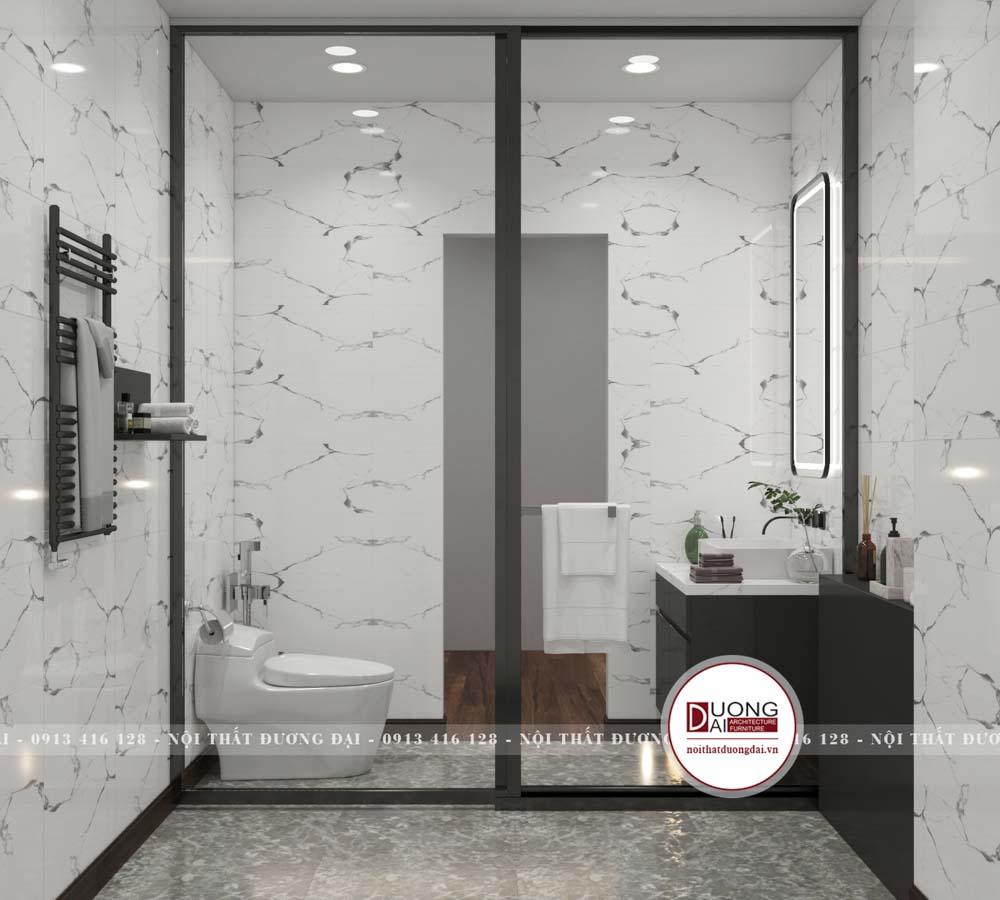 Phòng tắm sử dụng nội thất cao cấp và chống ẩm tốt