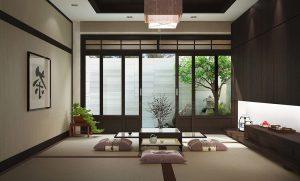 Không gian xanh mát tạo nét đẹp trang nhã cho căn phòng