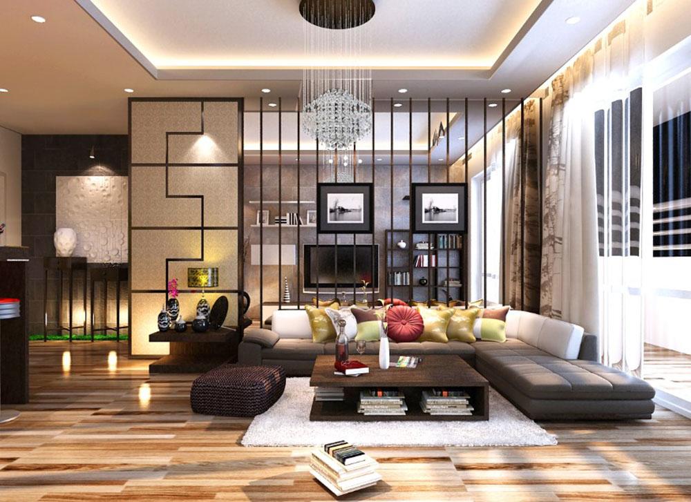 Không gian phòng khách chung cư siêu ấn tượng với phong cách Nhật
