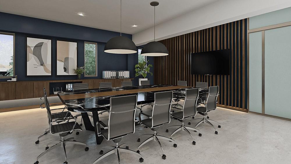 Phòng họp nên được bài trí thu hút nhiều nhân khí và tài lộc