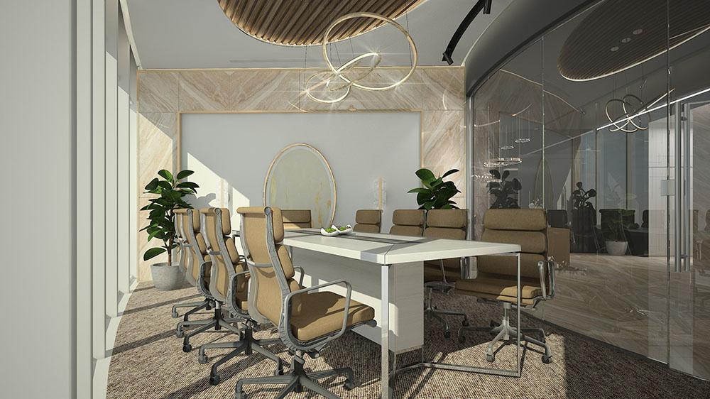 Cây xanh trong phòng họp mang đến nhiều tài lộc và xanh mát