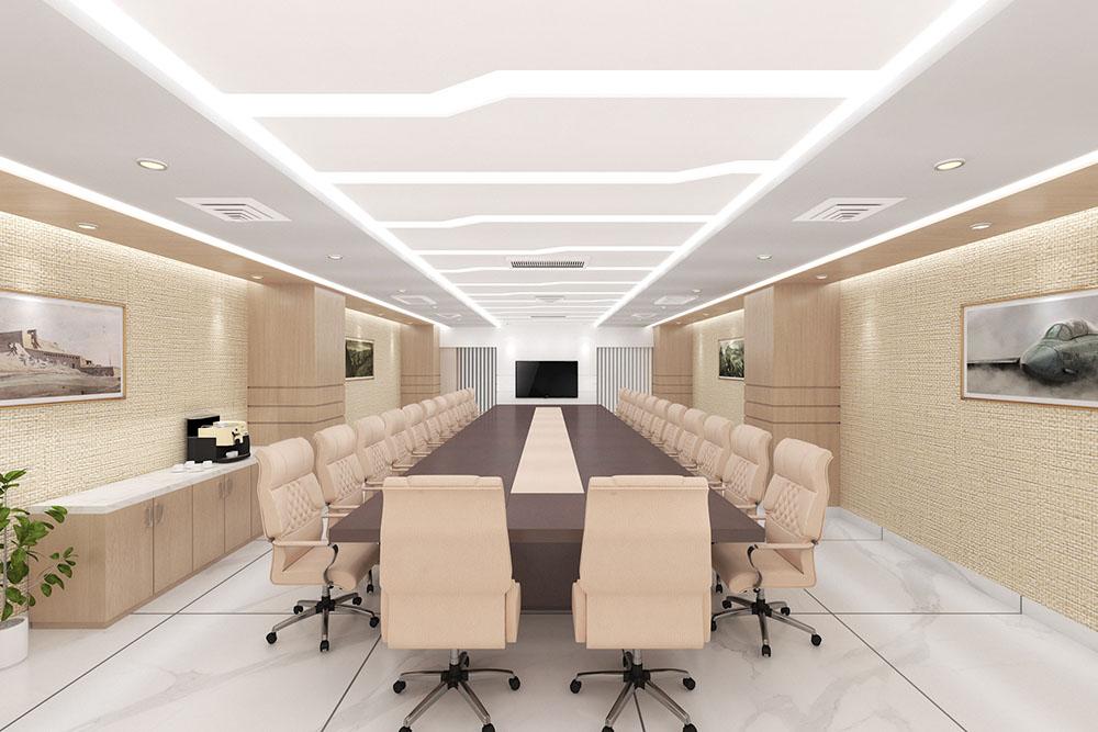 Thiết kế bàn ghế họp cao cấp cho phòng họp kích thước lớn