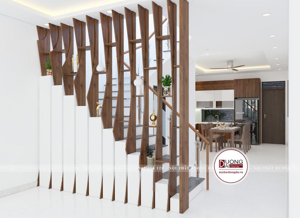 Vách ngăn siêu ấn tượng và thẩm mỹ cho sảnh tầng 1