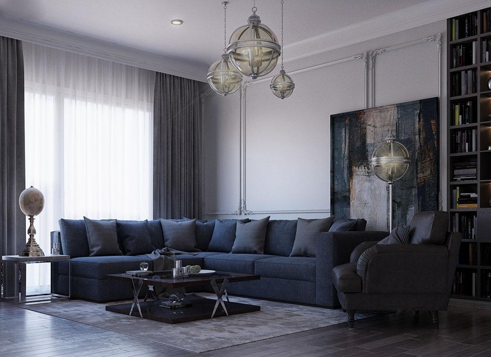 Thiết kế quyền quý với sofa góc lớn đầy êm ái
