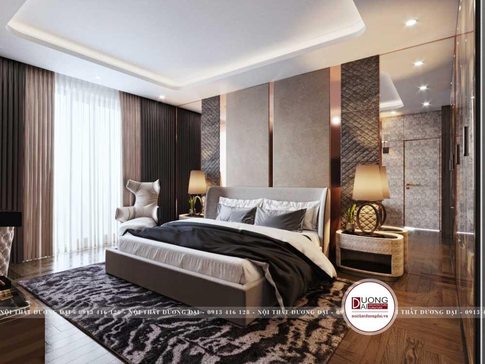 Thiết kế phòng ngủ đầy sang trọng mang đậm nét đẹp châu Âu