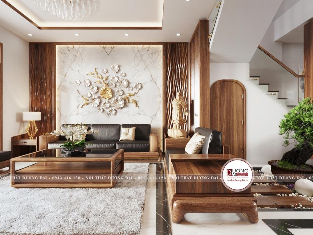 Thiết kế nội thất gỗ óc chó luôn mang đến nét đẹp thượng lưu