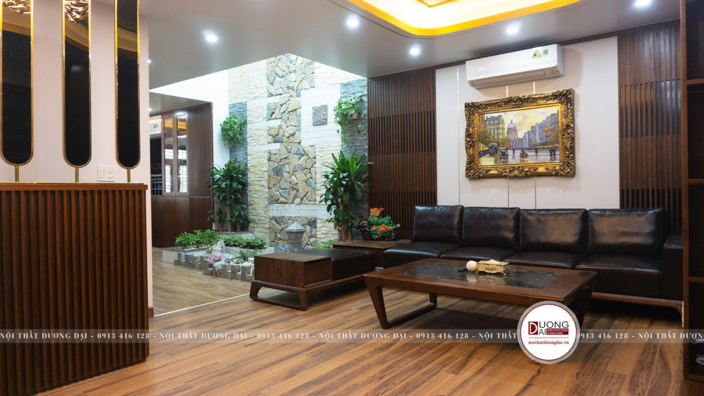 Nội thất căn biệt thự được làm từ gỗ óc chó cao cấp chất lượng nhất