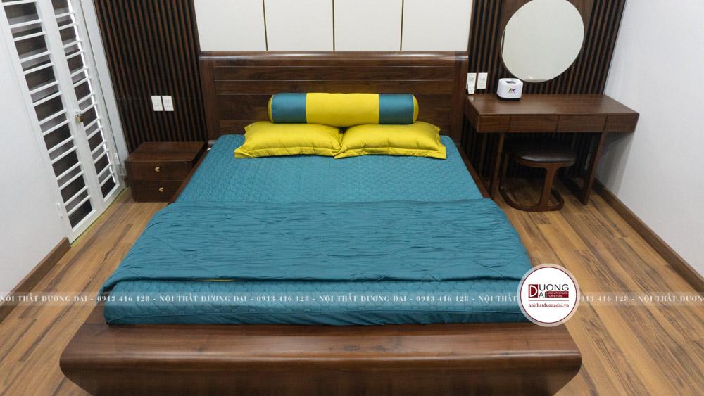 Bàn phấn cùng tab đầu giường hiện đại và nhỏ gọn