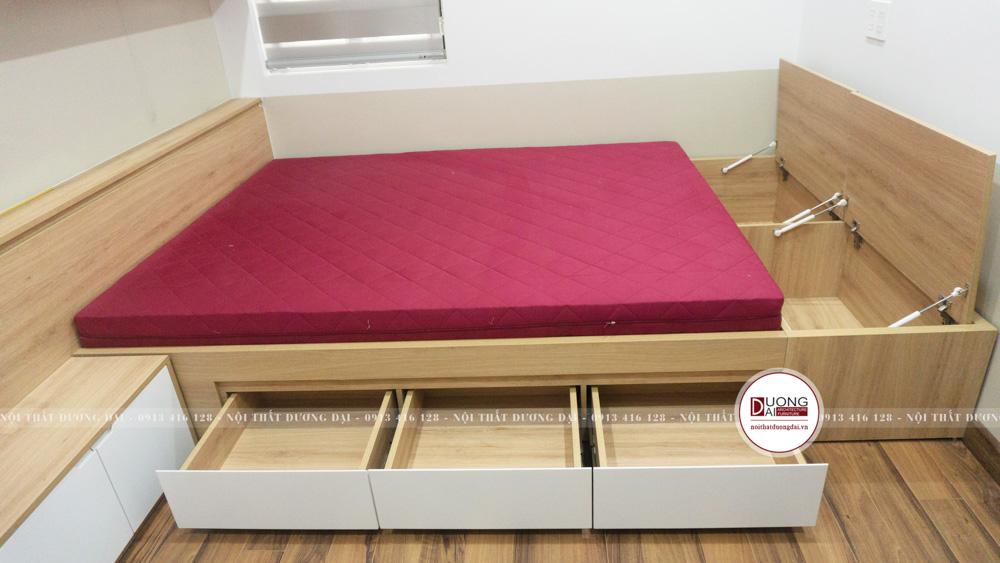 Giường ngủ có ngăn đựng đa năng và hộc để đồ tiện lợi