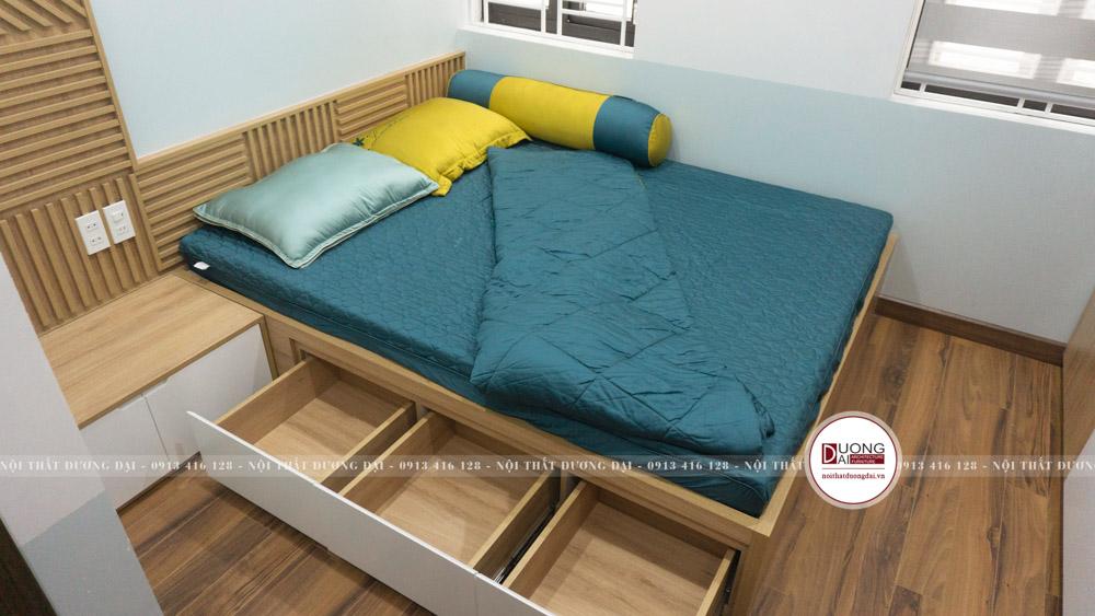 Giường có ngăn kéo đựng đồ tiện nghi cho bé