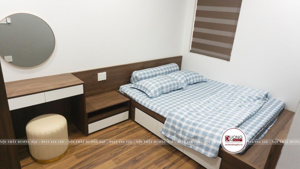 Phòng ngủ cho khách sử dụng nội thất đa năng kiểu dáng đơn giản
