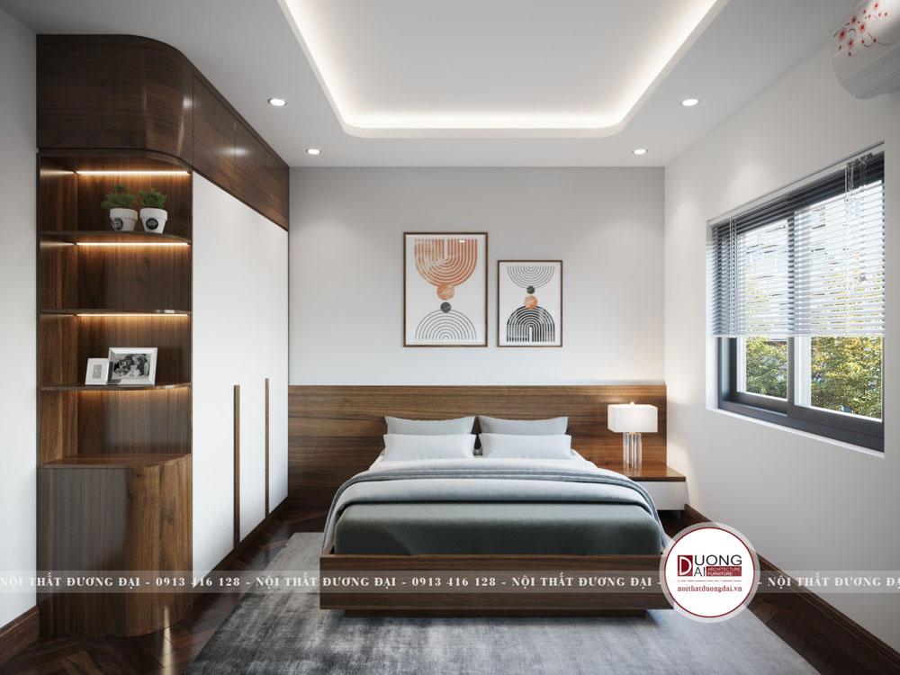 Phòng ngủ cho người già với thiết kế đơn giản, lịch sự