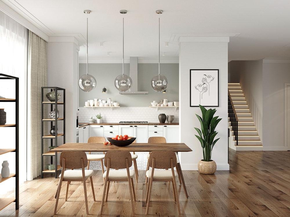 Phòng bếp màu trắng phù hợp với diện tích nhỏ chật hẹp