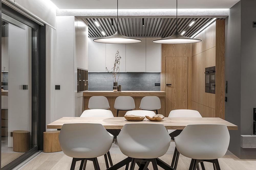 Cách bài trí trang nhã và đơn giản cho phòng bếp nhà phố