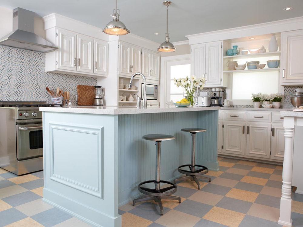 Tủ bếp cổ điển mang nét hoài cổ cùng cách bài trí hiện đại