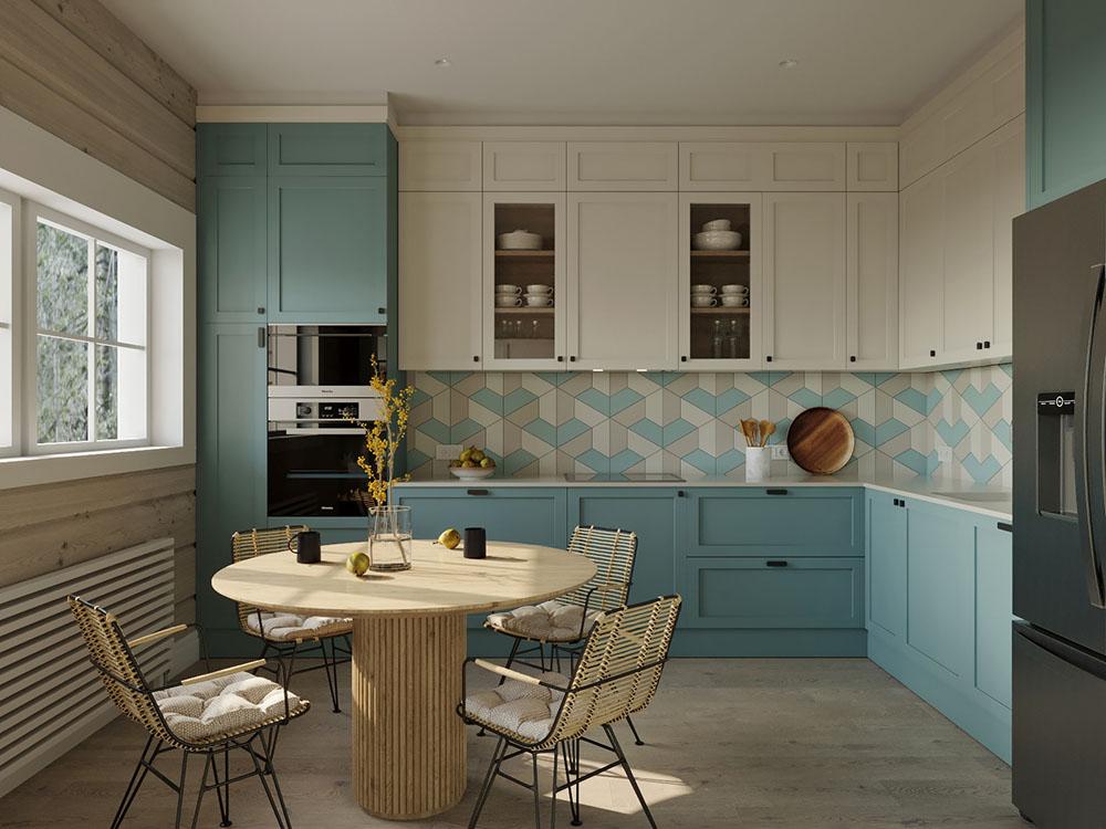 Thiết kế phòng bếp diện tích nhỏ với cách bài trí đơn giản